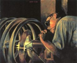The Coil Welder | Grant Wood | Oil Painting