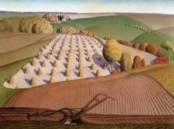 Fall Plowing | Grant Wood | Oil Painting