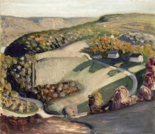 Rural Landscape | Grant Wood | Oil Painting