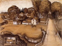 Study for The Birthplace of Herbert Hoover | Grant Wood | Oil Painting