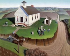 Arbor Day | Grant Wood | Oil Painting