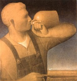 Plowing on Sunday | Grant Wood | Oil Painting