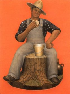Farmer Eating Lunch | Grant Wood | Oil Painting