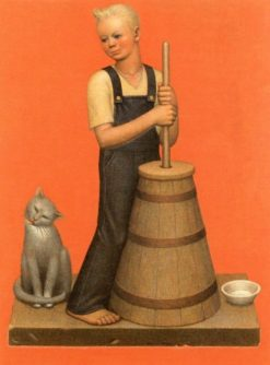 Churning | Grant Wood | Oil Painting