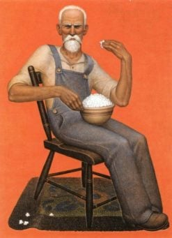 Grandpa Eating Popcorn | Grant Wood | Oil Painting