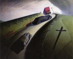 Death on Ridge Road | Grant Wood | Oil Painting