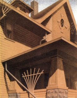 Main Street Mansion | Grant Wood | Oil Painting