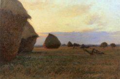Haystacks at the Farm