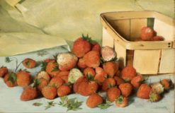Still Life with Strawberries | Joseph Decker | Oil Painting