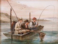 Fishing on the Hudson | James Goodwyn Clonney | Oil Painting