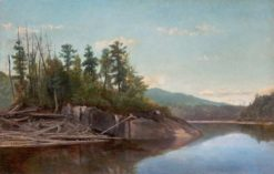 Lake Scene | Alexander Helwig Wyant | Oil Painting