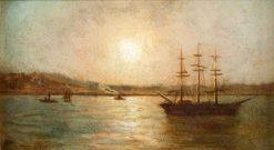 Ship at Sunset | Ralph Albert Blakelock | Oil Painting