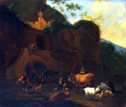 Peasants and Cattle | Nicolaes Berchem | Oil Painting