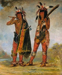 Two Young Men | George Catlin | Oil Painting