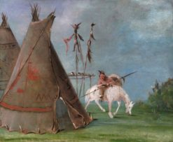 Comanche Lodge of Buffalo Skins | George Catlin | Oil Painting