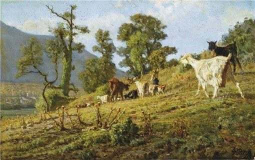 Return from the Pasture | Filippo Palizzi | Oil Painting