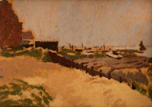 Breakwater at Ferryside | Edward Morland Lewis | Oil Painting