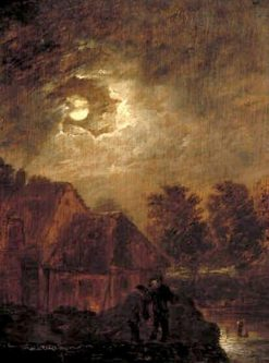 Farm by Moonlight | Adriaen Brouwer | Oil Painting