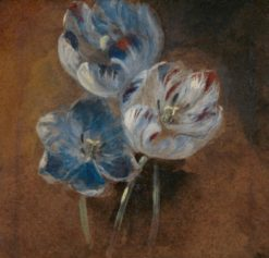 Three tulips. Sketch | John Constable | Oil Painting