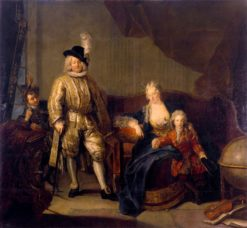 Family Portrait of Baron von Erlach | Antoine Pesne | Oil Painting