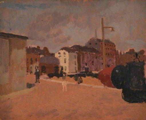 Harbour Scene | Edward Morland Lewis | Oil Painting