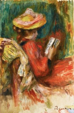 Young Girl Reading | Pierre Auguste Renoir | Oil Painting