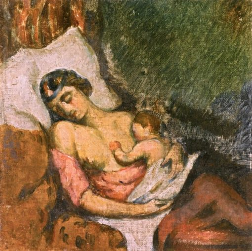 Woman Breastfeeding Her Child | Paul Cézanne | Oil Painting