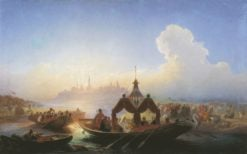 Queen Soyembika Leaving Kazan | Vasily Khudyakov | Oil Painting