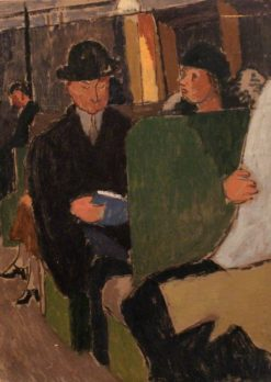 People Seated | Edward Morland Lewis | Oil Painting