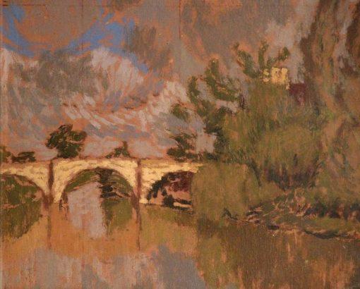 River Scene   Edward Morland Lewis   Oil Painting