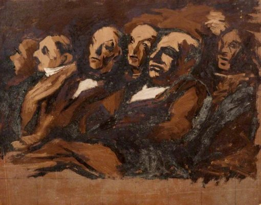 Seated Figures | Edward Morland Lewis | Oil Painting