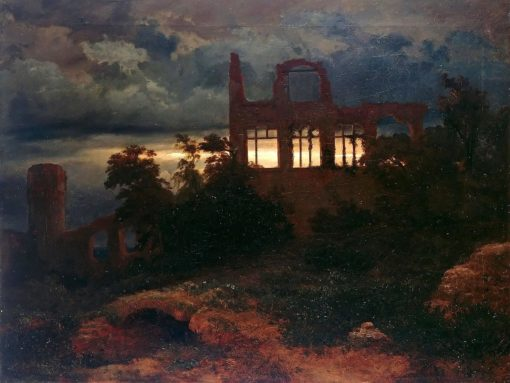 Landscape with Castle Ruins | Arnold Böcklin | Oil Painting