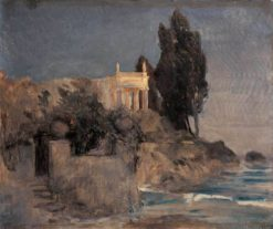 Villa by the Sea (draft version) | Arnold Böcklin | Oil Painting