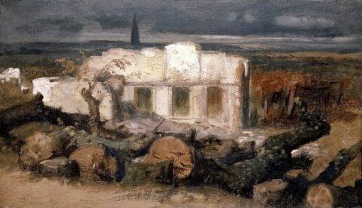 Destroyed House in Kehl | Arnold Böcklin | Oil Painting
