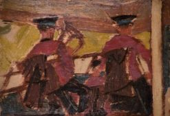 Two Members of a Brass Band in a Bandstand | Edward Morland Lewis | Oil Painting