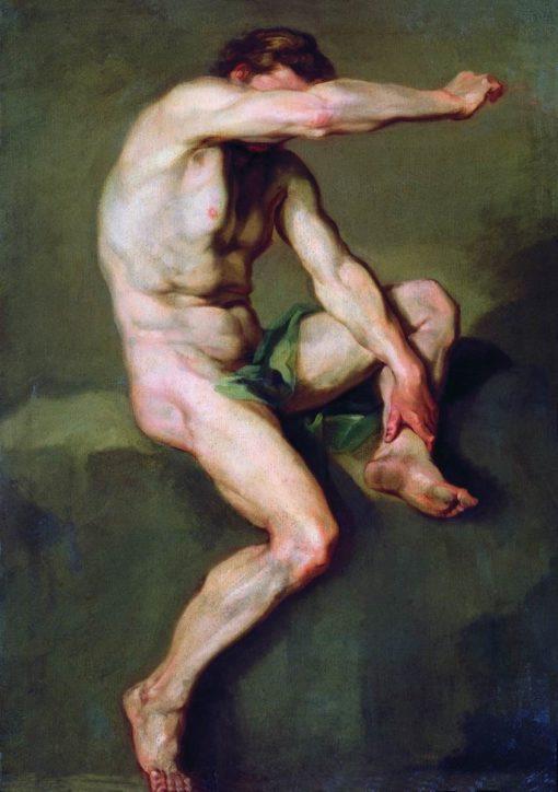 Male Nude Seated | Anton Losenko | Oil Painting