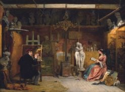 The Painter's Studio | James Digman Wingfield | Oil Painting