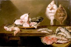 A Still Life of Fish on a Table | Alexander Adriaenssen | Oil Painting