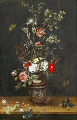 Floral Still Life with Roses | Alexander Adriaenssen | Oil Painting