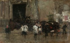 Procession Interrupted by the Rain | Mariàno Fortuny y Marsal | Oil Painting
