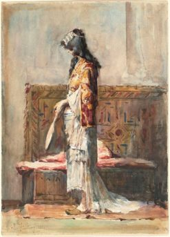 A Moroccan Woman in Traditional Dress | Mariàno Fortuny y Marsal | Oil Painting