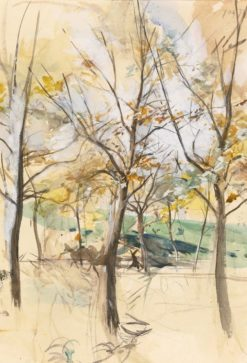 Trees In The Bois De Boulogne | Giovanni Boldini | Oil Painting