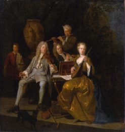 A Musical Company | Pieter Angellis | Oil Painting