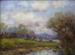 Landscape with Fisherman | Charles P. Appel | Oil Painting