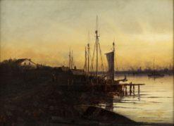 Sunset Harbor | Charles P. Appel | Oil Painting