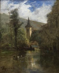 Boat on the Pond | Adolphe Appian | Oil Painting