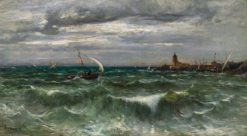 The Bay at Collioure   Adolphe Appian   Oil Painting