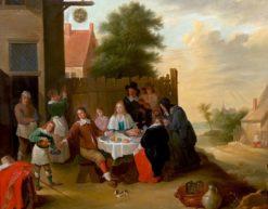 Dutch Wedding Supper   Thomas van Apshoven   Oil Painting
