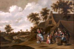 Children's Snack in Front of the Hostel | Thomas van Apshoven | Oil Painting