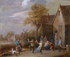 Peasants Carousing | Thomas van Apshoven | Oil Painting
